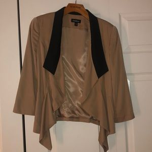 Tan and black BEBE size xs blazer